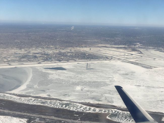 Ice filled Jamaica Bay near Kennedy Airport in New York. January 2018. Viewfromplane Flying JFKAirport KJFK Cold Temperature Cold Weather Ice Airplane Aerial View Transportation Beauty In Nature Scenics Air Vehicle Landscape Airplane Wing