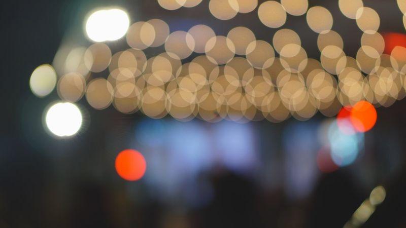 Outdoors Illuminated Night Lighting Equipment Christmas Defocused No People Christmas Decoration Focus On Foreground Celebration Christmas Tree Christmas Lights Close-up City Bokeh Lighting Equipment Christmaslights Neon