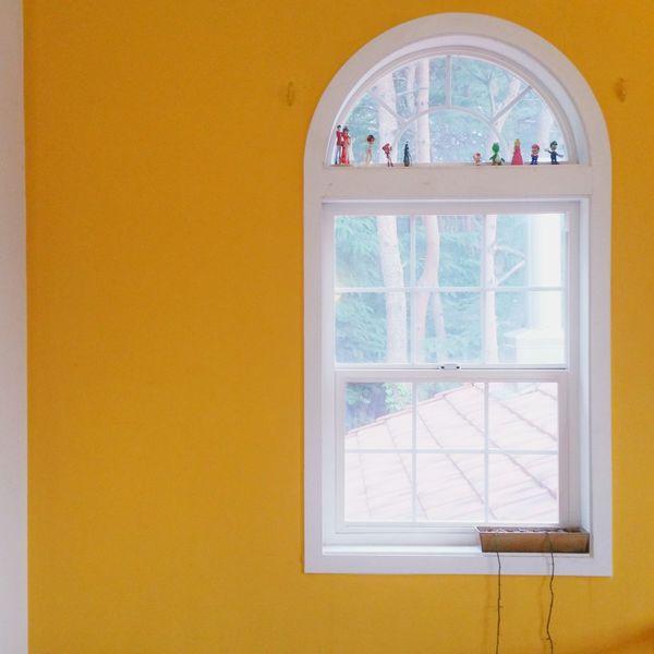 창문 노랑노랑 Yellow Window Yellowcolor 😚 Morning Yellow Wall