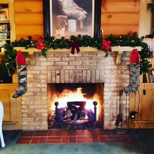 Christmas Christmas Decoration Christmas Lights Fire Place Holiday Season Holiday Holidays Decorative December Decorations Stockings Stockings By The Fire