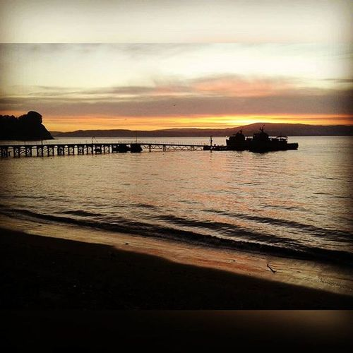 Amanecer en la isla 😍 Créditos a loa papis 💙 IslaQuiriquina Island Deck Sunrise bay lindo inLove sea lifeisabeach lifeisgood SquareInstaPic