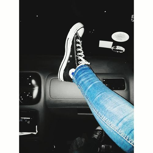 Chucks All Day Human Leg Converse All Star Converse Lovelyshoes Chucktaylor Blackconverse MyFavorite  Suge TheOneAndOnly Chuckshead Bestoftheday Bestofeyem Car Relax Chillin' Cityscape City Front View Casual Clothing Vintage View Street Full Length