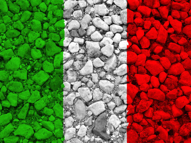 Italian flag Architecture Backgrounds Built Structure Close-up Day Full Frame Green Color Italy Italy Flag Nation Nature No People Outdoors Pebble Red Rome Rome Italy State Textured