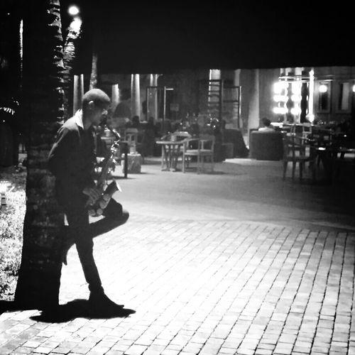 Saxophonist. Black & White