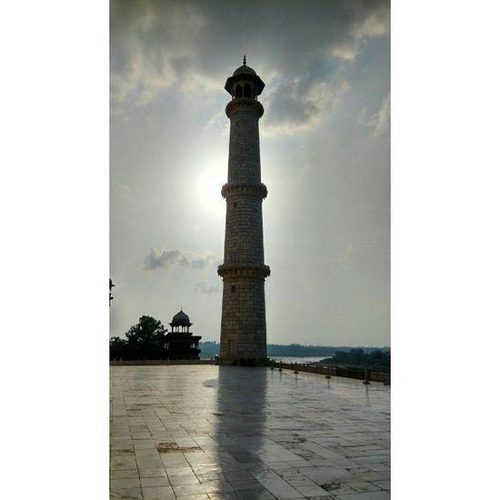 Tajmahal Agra Minar Sunset Architecture Shahjahan Reflection Shadow Marble India