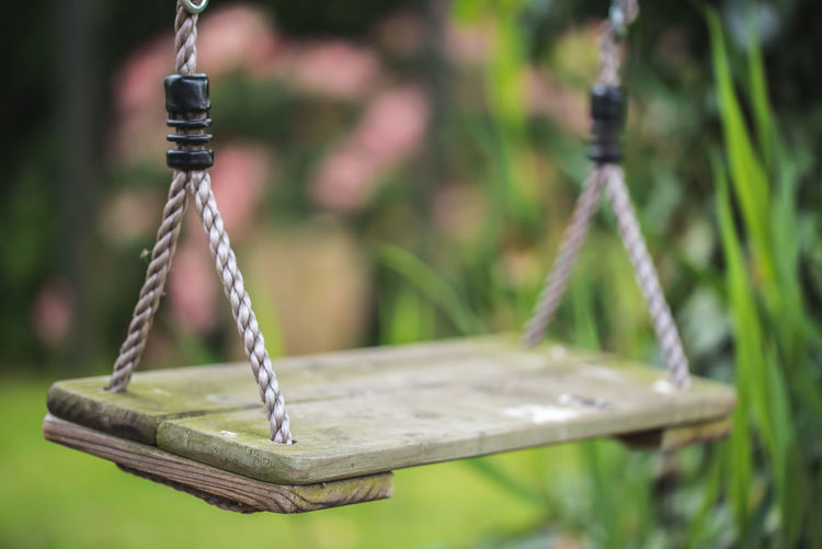 Connecting with your inner chid Close-up Day Focus On Foreground Garden No People Outdoors Playground Swing