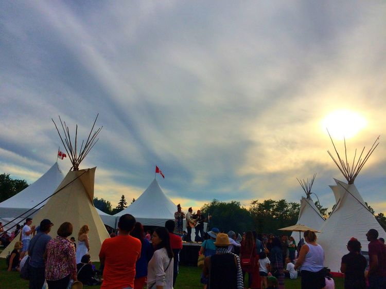 Egypt pavillion Heritagefestival Hawrelak Park Sunset Sky Nature_collection