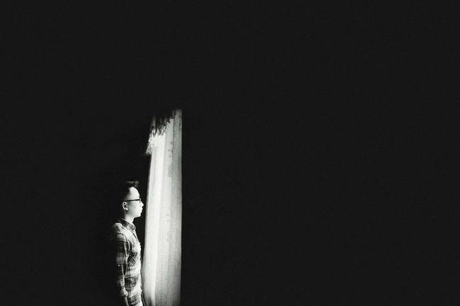 Look to the future! Black Black & White Contrast Curtain Hightlight Lowkey  Me Selfie Window