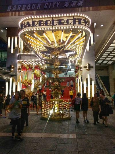 Christmas Decorations! HongKong Relaxing Habourcity Light Em' Up
