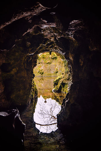 Aerial view of cave