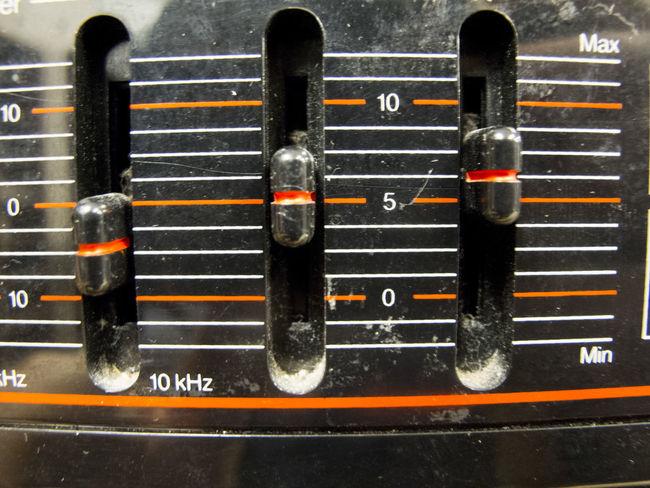 Adjust Cable Control Dust Electronics  Equalizer Levels Lines Multi Colored Old Orange Red Variation
