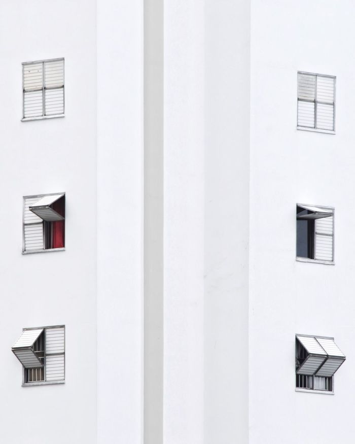 Geometric Shape Broken Pattern Lines And Shapes Red City Urban Urban Geometry Minimalism Architecture Building Exterior Built Structure White Color Window House Residential Building Full Frame No People Day Whitewashed Outdoors White Background Close-up