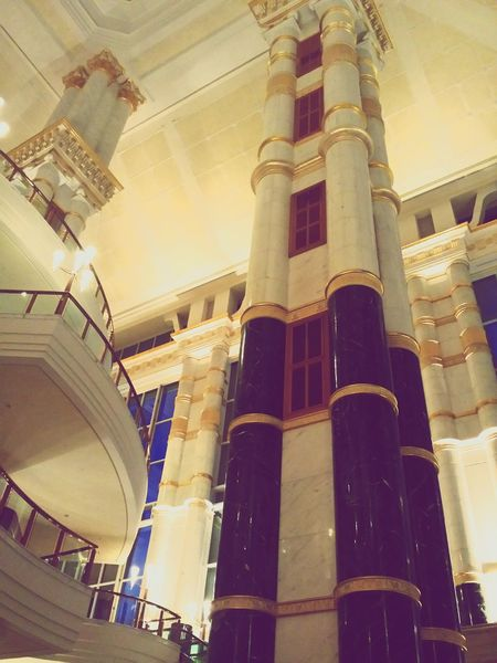 architecture Brunei Darussalam hotel pillars Built Structure Interior Design