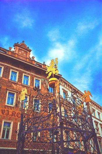 Praha Prague My City Medieval Medieval Architecture Fountain Metal Work
