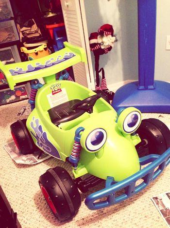 Little bros new go kart i also built.