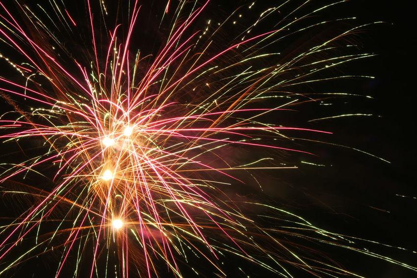 Fireworks Light Light Painting Celebration Exploding Firework Display Glowing Illuminated Motion Night Sparks