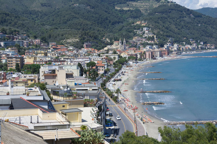 Laigueglia, Riviera Di Ponente, Liguria Savona, Italy City Cityscape Day High Angle View House Italy Liguria Mountain Outdoors Residential Building Town