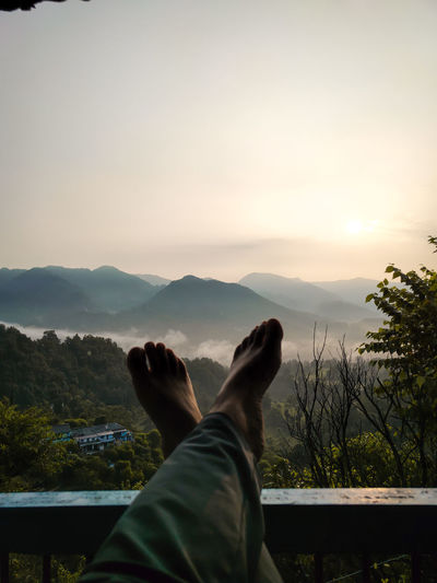 Precious relaxing moments in the mountains.