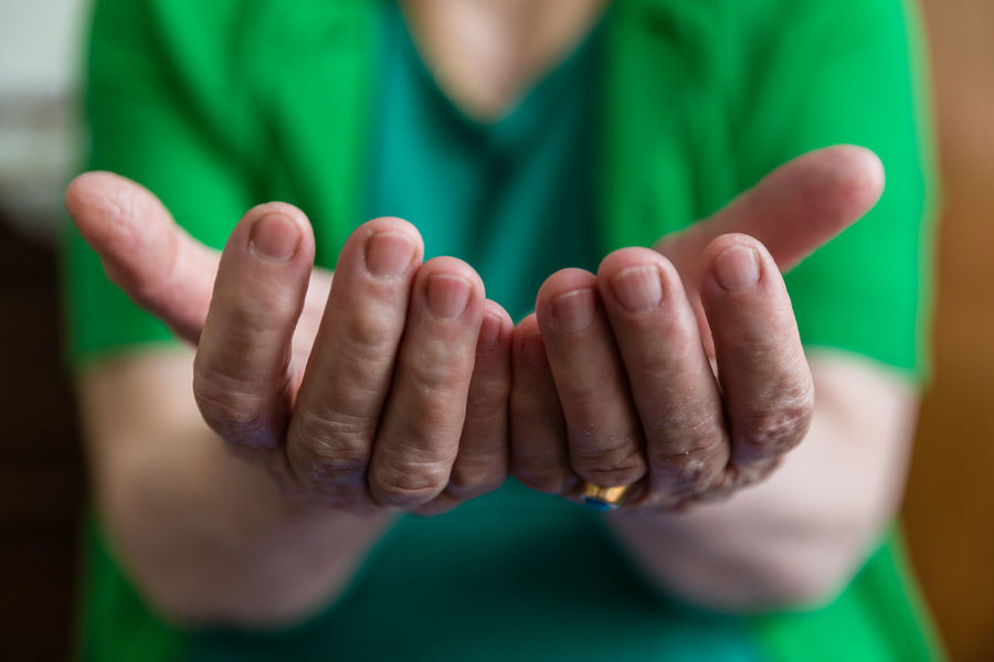 An old woman stretching her hands in order to asking for need. Hands Pray Woman Bonding Close-up Finger Focus On Foreground Front View Help Human Body Part Human Hand Indoors  Need Old Woman Old Woman Hand People Praying Real People Request Requirements Showing Want Inner Power