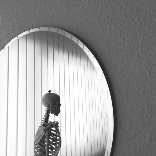 Mirror Reflection Skeleton Blackandwhite Black And White Black & White Blackandwhite Photography