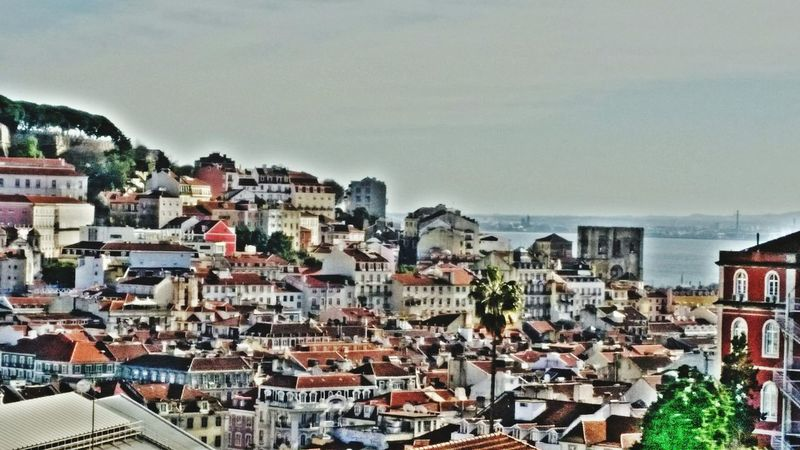 Lisbon Lisboa Portugal Hill Showcase: February Taking Photos City City Center Buildings Historic Building Old Buildings Architecture Historical Center Roofs Landscape Landscapes With WhiteWall Here Belongs To Me