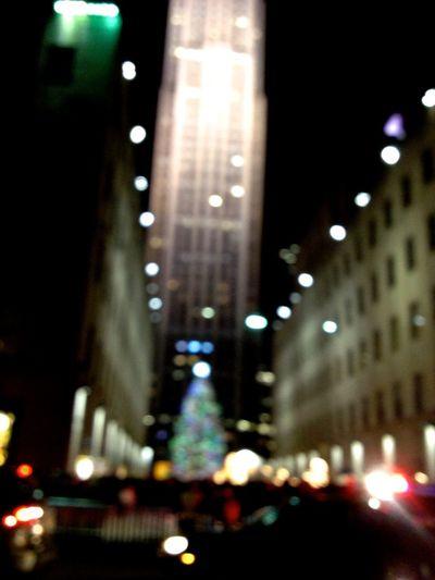 Christmas Lights Christmas Tree City Life Keep It Blury Night NYC Photography NYC Street Rockfeller Center