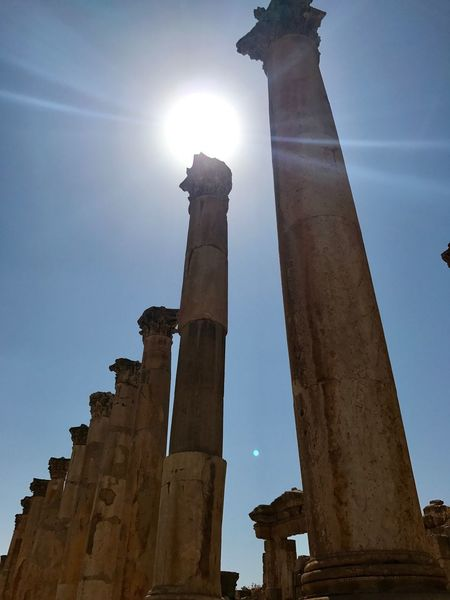 Low Angle View Architectural Column Old Ruin History Architecture Travel Destinations Built Structure Ancient Ancient Civilization Outdoors Sunlight
