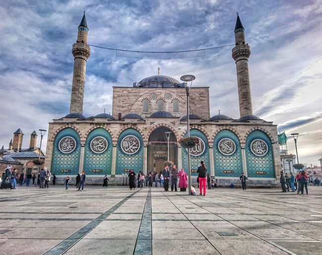 Travel Destinations Large Group Of People Tourism Arch Architecture Cloud - Sky People Marble Sky Vacations Built Structure Group Of People Day Outdoors Real People City King - Royal Person Likeforlike Follow Me :) Followforfollow Like4like Followshoutoutlikecomment Konya Turkey Mevlana Mosque