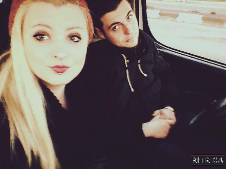 My love in the car , together Boy Boyfriend Girl Blonde Girl Blonde Hair Taking Photos Hi! Love Couple