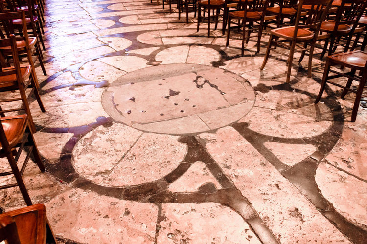 Maze Pilgrimage To Sacred Absence Architecture Chair Circle Design Focus On Shadow Geometric Shape High Angle View History Pattern Paving Stone Seat Shadow Shape Sunlight The Past Travel Destinations