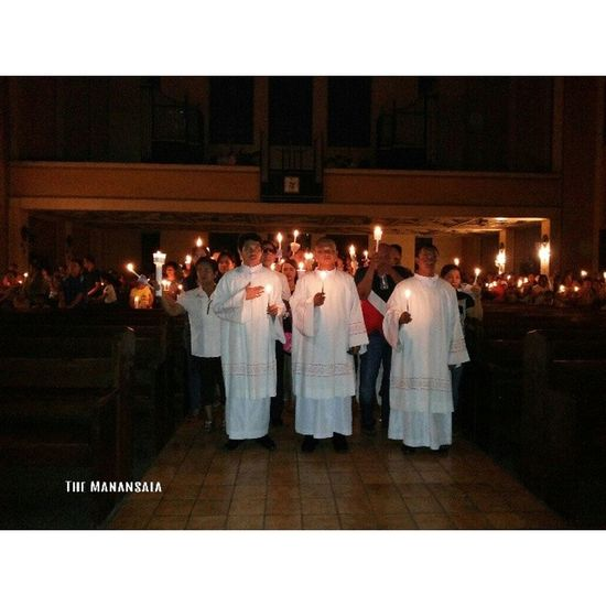 Light conquers darkness. Jesus conquers death! Jesus, light of the world! Hallelujah! Hallelujah! Hallelujah! Easter Vigil Lent Themanansala samsungcamera