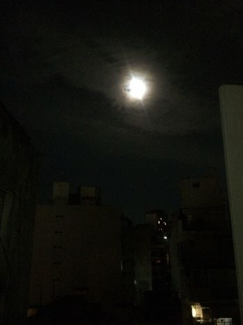 Smokey moon❤️ Nightlights Moon Night Illuminated Moon Dark No People Low Angle View Moonlight Astronomy Outdoors Sky Building Exterior Nature