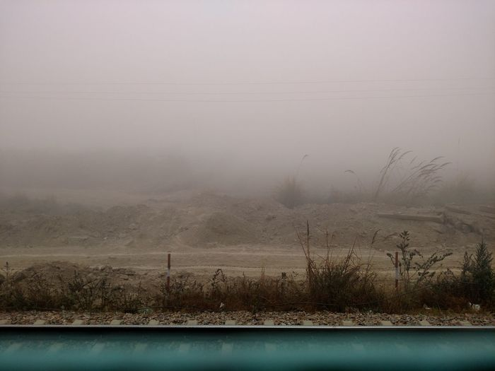 No People Nature Outdoors Day Fog Finding New Frontiers Traveling By Train Morning Winter Traveling Indian India Plant Travel Foggy Weather Railway Line Freshness Nature Green Mobile Photography Mobile Phone Bushes Foggy Morning Finding New Frontiers Traveling Home For The Holidays