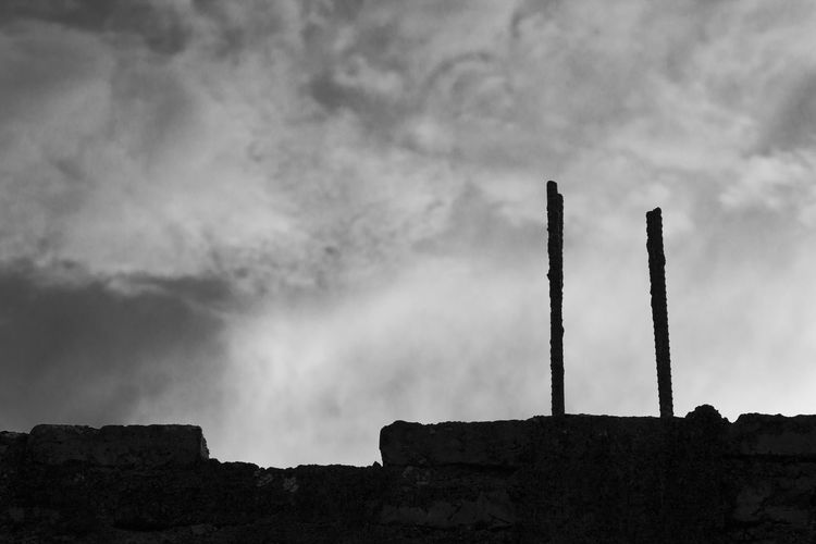 ... Cloud - Sky Sky Environment Environmental Issues Built Structure Rock Dramatic Sky Silhouette Blackandwhite Black And White
