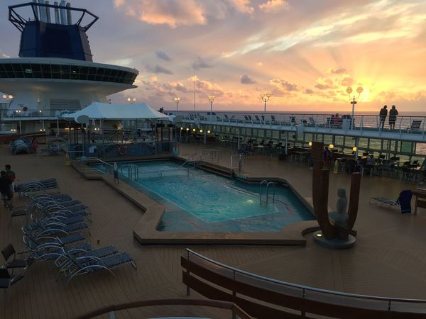 Atlantic Ocean Cloud - Sky Cruise Cruise Ship Holiday Horizon Over Water Luxury Nautical Vessel Outdoors Scenics Sea Ship Sky Sunset Swimming Pool Travel Vacations Water EyeEmNewHere Lost In The Landscape