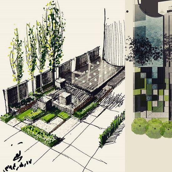 Landscapedesign Landscape LandscapeArchitecture Arqsketch @MYMYOUSEFI
