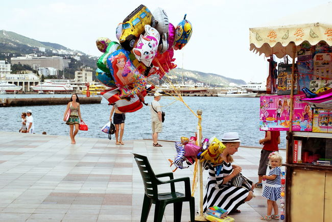 Art Balloons Casual Clothing Chidren Childhood City City Life Colourful Colours Crimea Day Lifestyles Outdoors Sea Sky Summer Tourism Travel Destinations Yalta