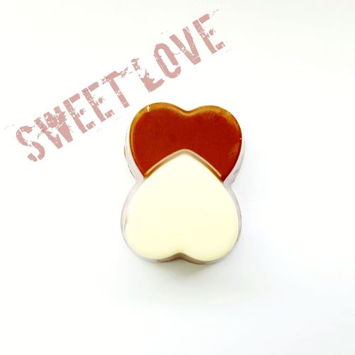 sweet love Heart Shape Hearts Two Dark Chocolate White Chocolate Mixed Concept Racial Diversity Chocolate Chocolate Chocolate Heart Love ♥ Sweet Food Text White Background Love Heart Shape Close-up Candy Heart Candy Valentine Day - Holiday Sweet Written Capital Letter Valentine Card Western Script