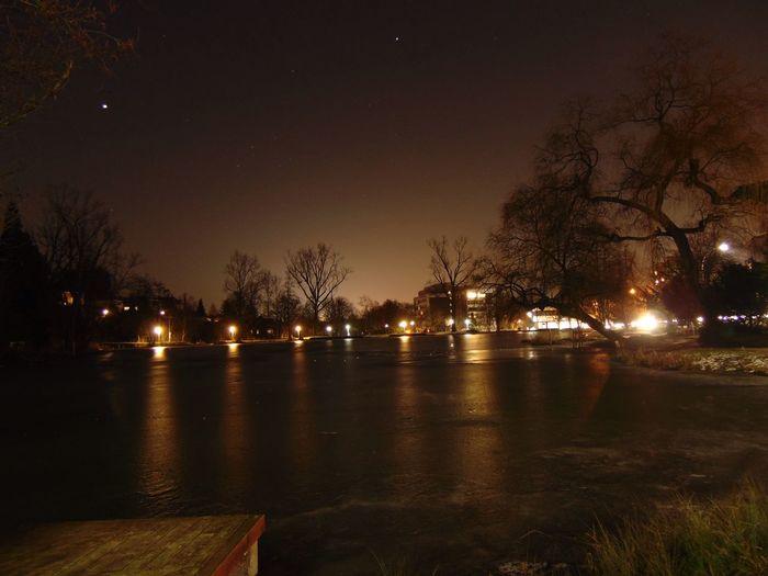 Lake Lake View Winter Water Water Reflections EyeEm Best Edits Night Lights