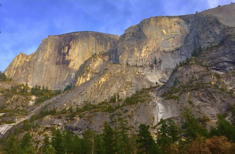 Half Dome, from valley floor Mountain Scenics - Nature Beauty In Nature Rock Sky Tranquil Scene Tranquility