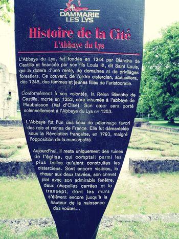 Historical Building Text L'abbaye Du Lys