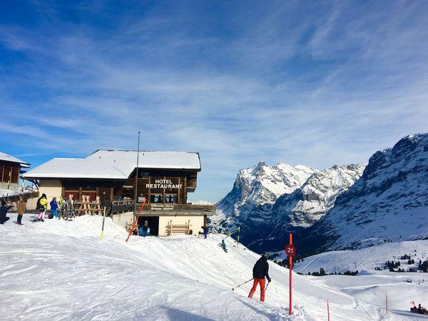Wengen Kleine Scheidegg Snow ❄ Jungfrau - Top Of Europe Architecture 🇨🇭 Switzerland Architecture_collection Traveling Traveling Photography Landscape_photography Blue Sky