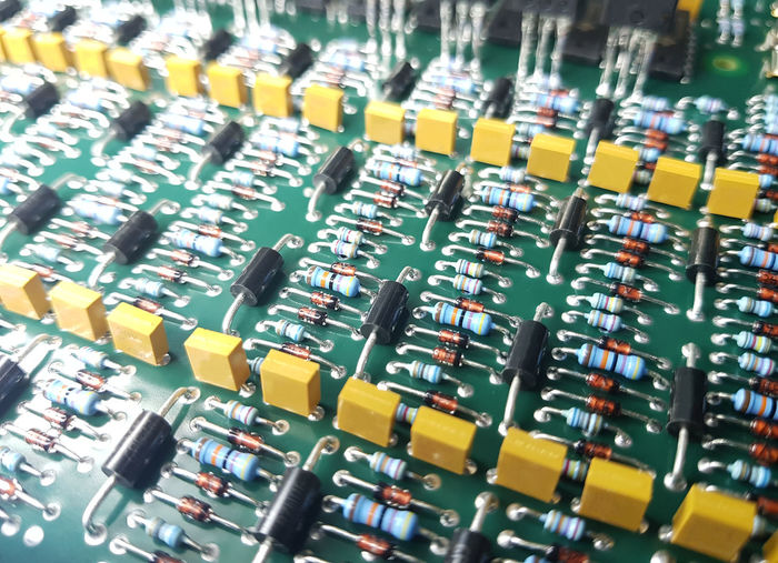 Inspection electronic components on PCBa Business Check ESD PCB Abstract Electronics  Electronics Industry Inspection Station Manufacturing Equipment Microscope No People Static Electricity Technology