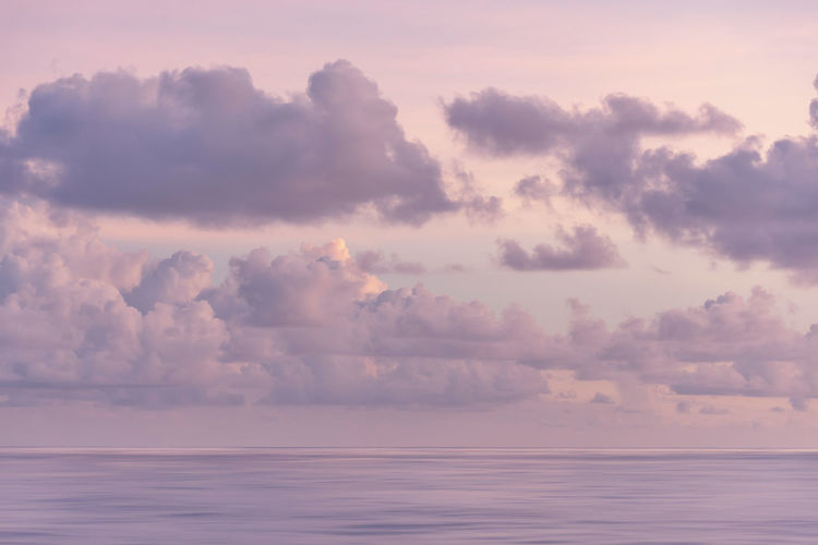 Clouds on horizon 14 Beauty In Nature Sky Tranquil Scene Cloud - Sky Sea Nature Tranquility Water Horizon Over Water Horizon Sunset Dramatic Sky Pastel Pink Color Dusk Clouds Seascape Calm