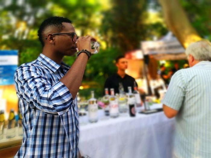 gin tasting...