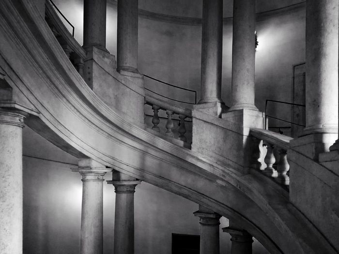 Light And Shadow Staircase Staircase To Heaven Architecture Architectural Column Built Structure Indoors  No People History Day Illuminated