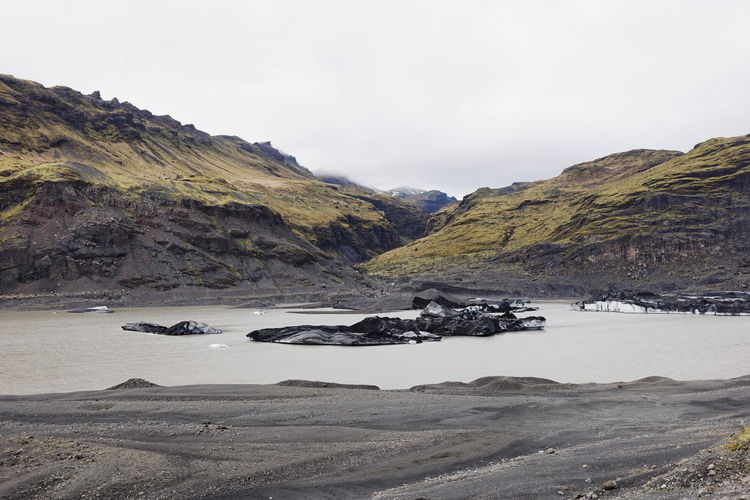 Mountain Glacier Landscape Environment Nature Wilderness Outdoors Cloud - Sky Rock Scenics - Nature Water Mountain Range No People Scenery Land Tranquil Scene Beauty In Nature Beautiful Love Ice Black Sand Lagoon Iceland Island 17.62° My Best Photo