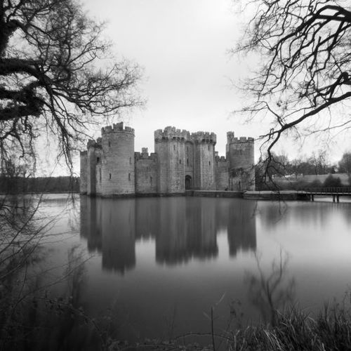 Bodiam Castle Landscape Blackandwhite Photography