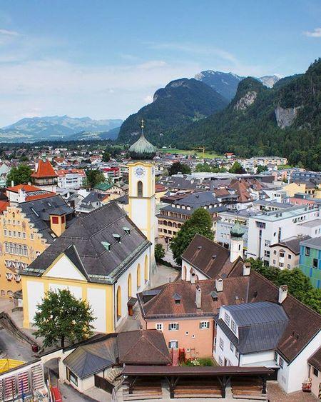 Beautiful View of City from inside the Medieval FestungKufstein Festung Fortress . Kufstein Tirol  Österreich Austria . Taken by my Sonyalpha A57 DSLR Dslt . تصميم معمار برج قصر النمساء