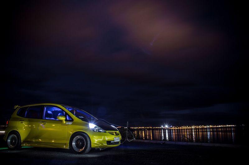 Honda Honda Fit Car Patagonia Chilena Night Puerto Natales,Chile Nigth Shot